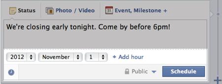 Facebook Post Scheduling