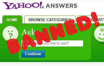 YahooAnswersBanned